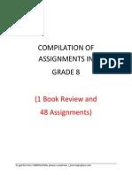 Grade 8 Compilation of Assginments