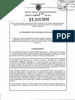 Decreto 1164 Del 25 de Junio de 2014