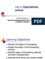 Forecasting Methods