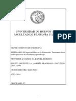 Para Filo - Programa Seminario El Lugar Del Otro en La Educación _2do Cuatrimestre 2014_ - Copia