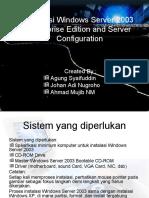 Instalasi Windows Server 2003 Enterprise Edition Dan Konfigurasi