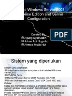 Instalasi Windows Server 2003 Enterprise Edition Dan Konfigurasi
