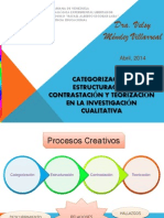 Estructuracion, CATEGORIZACION y Teorizacion
