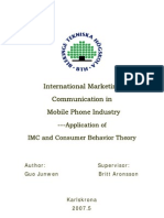 International Marketing Communiation in Mobile Phone Industry