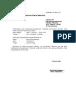 Surat Peminjaman Tempat 201