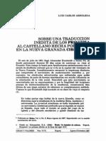 Sobre Una Traduccion de Principia Mathematica
