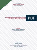 Metabolitos Secundarios Bioactivos de Especies Del Genero Piper (Tesis)