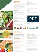 Meal Plan Brochure Copy