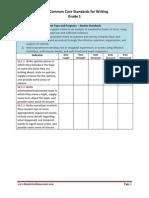 1st grade writing skill checklist