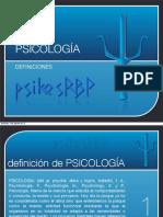 Definiciones de la Psicologia