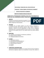 Directiva Ciclo Verano 2011 Untecs
