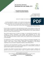 Presentación Informe Especial La tortura, mecanismo de terror