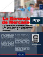 La Gerencia de Mercadeo y la Generación de Nuevos Productos y Servicios