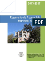 Regimento da Assembleia Municipal de Sintra 2013/2017