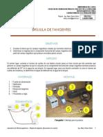 8. Laboratorio Electromagnetismo - Brújula de Tangentes