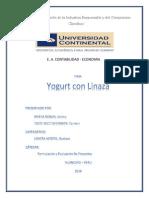 Elaboracion de Yogurt Con Linaza 1
