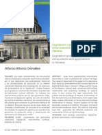 Legislación y patrimonio inmueble. Antecedentes y aplicación en La Habana.