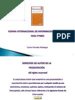 NIIF'S PARA PYMES -CPC. Carlos Paredes Reátegui 15-07-2011.ppt