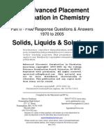 Solids Liquids Solutions