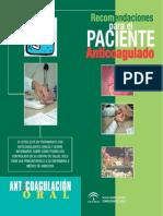 Anticoagulacion. Diptico Del Paciente