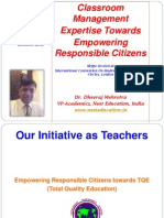 Classroom Management Expertise Towards Empowering Responsible Citizens