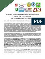 Pronunciamiento Nueva Ley Universitaria