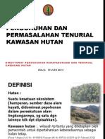 Pengukuhan Dan Permasalahan Tenurial Kawasan Hutan