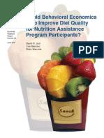 59. Could Behavioral Economics Help Improve Diet Quality for Nutrition Assitance Program Participants