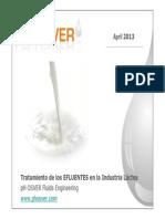 4 Informacion Tecnica Efluentes en Ind. Lacteas April 2013