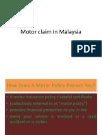 Motor Claim in Malaysia