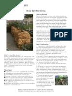 Straw Bale Garden Construction Guide