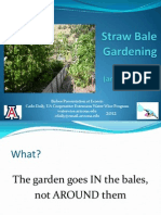 Straw Bale Gardening and Rainwater Harvesting