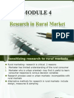 Module 4 Researching in Rural Mrkets