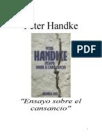Handke, Peter - Ensayo Sobre El Cansancio