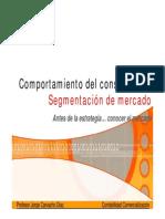 19 B - Comporta Del Consumidor y Segmentacion de Mercado