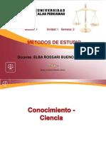 CONOCIMIENTO CIENCIA Metodologia 2da. Semana