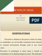 Excretion of Drug