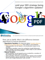 How Do You Avoid Your SEO Strategy Being Penalized by Google's Algorithm Updates
