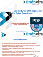 Case Study for CRM  Application For Sales Deaprtment