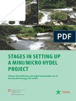 Stages in Setting Up Mini & Micro Hydel Plant