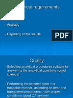 Sampling Analysis Reporting