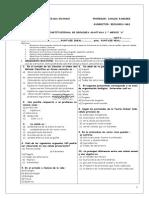 Prueba Institucional 3 Nm1 Bio 2014 Adaptada