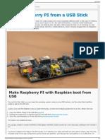 Boot Raspberry PI From a USB Stick - JonathanMH