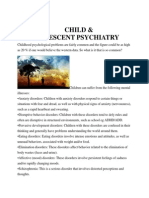Child & Adolescent Psychiatry