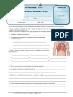 3ª FICHA AVA RESPIRAÇÃO - Sistema Respiratório - Compatibilidade
