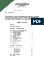 Paper Machine Design and Operation
