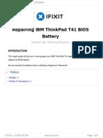 Repair Bios Battery