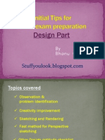 Tips for CEED exam Design preparation