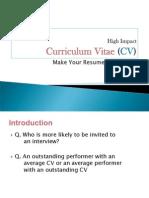High Impact CV