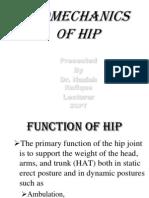Biomechanics of Hip 1
